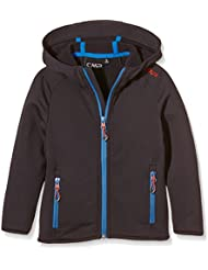 CMP chaqueta polar para niños, todo el año, niño, color Gris - Antracite/Vela, tamaño 10 años (140 cm)