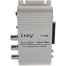 Amplificateur Audio Stéréo Hi-Fi avec Sortie de Super Basse pour Voiture Moto
