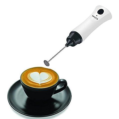 Electric Handheld Café mousseur à baguette mixeur batterie pour latte Lait Chaud œufs avec un câble de chargement (besoin d'un adaptateur, comme les rasoirs électriques