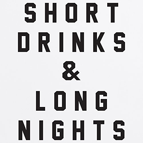 Short Drinks & Long Nights Boyfriend Cut T-Shirt, Herren Wei