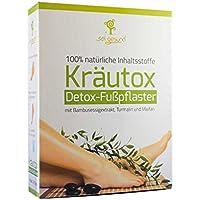 Kräutox Detox-Fußpflaster (14 Stück) [ 100% natürliche Inhaltsstoffe, mit Bambusessigextrakt, Turmalin und Maifan... preisvergleich bei billige-tabletten.eu