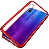 for Xiaomi Redmi Note 7 Pro/Note 7 Case 360 Degree full cover 2 pieces metal frame Magnetic tempered glass back Case - Red