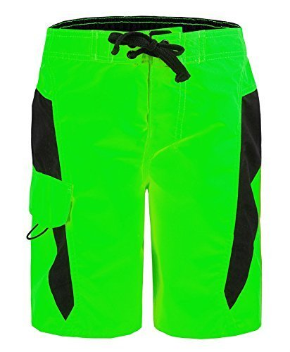 kids-swimming-shorts-us-apparel-by-083-in-neon-green-s-8-years
