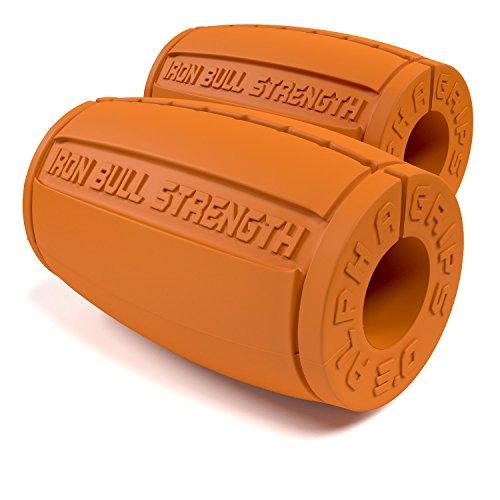 Iron Bull TGrip Griffadapter, für Hanteln / Gewichte und Fitnessgeräte, ergonomische Form, ca. 7,62 cm Durchmesser, 2 Stück Orange orange