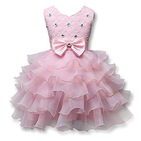 Mädchen Kleider Baby Hochzeit Chiffon Brautjungfer Festliches Festzug Bankett Party Prinzessin Märchen Dress