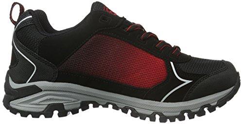 Bruetting Unisex-Erwachsene Valley Low Trekking-& Wanderhalbschuhe Schwarz (Schwarz/Rot)