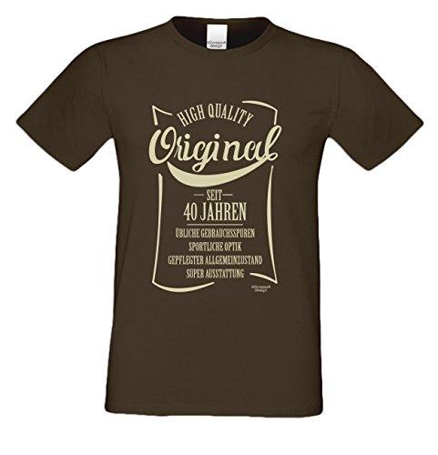 Herren-Geburtstags-Fun-T-Shirt Original seit 40 Jahren Geschenk zum 40. Geburtstag oder Weihnachts-Geschenk auch Übergrößen 3XL 4XL 5XL in vielen Farben braun-12