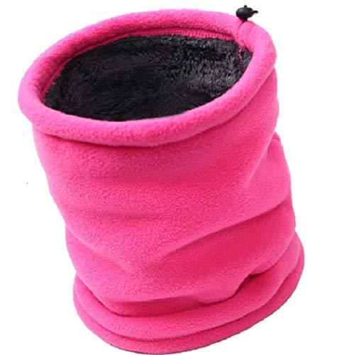 Umipubo sciarpa invernale caldo tessuto in pile scollo sport antivento multifunzione scaldacollo moto unisex confortevole scarf (rosa)