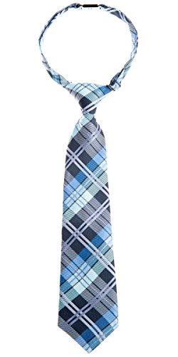 Retreez elegante Tejido tartán de cuadros escoceses PRE-TIED de microfibra Boy's Tie - Gris -