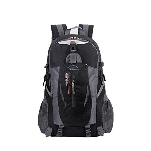 Zaino da escursionismo grande 40l impermeabile leggero borsa per trekking, campeggio, corsa, ciclismo trekking all' aperto sport, Black