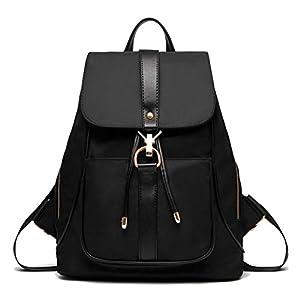 41QQHYJu%2BaL. SS300  - TIBES Mochila impermeable mochila de nylon de moda para las niñas Negro
