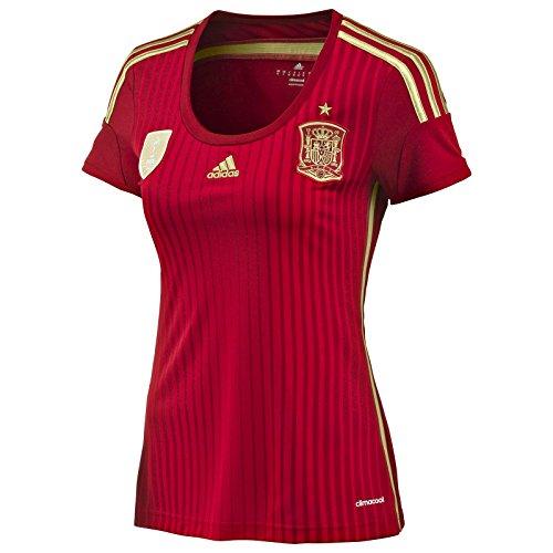 Adidas Womens Spain National Football Top T Shirt World Champion Edition