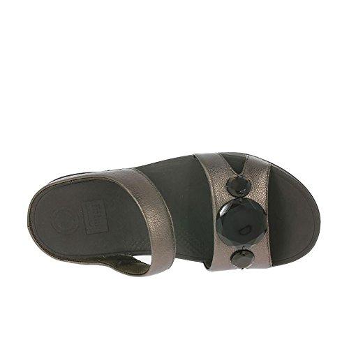 FitFlop Bronze De Luna Pop Slide Sandales Bronze