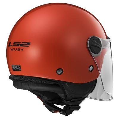 LS2 30575J1032S OF575j Casco Wuby Solid, Color Rojo, Tamaño S