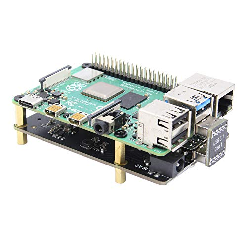 Geekworm Raspberry Pi 4 X872 M.2 NVMe SSD Expansion Board Compatible with Raspberry Pi 4 Model B Only, Support X735/X710/X765/X725