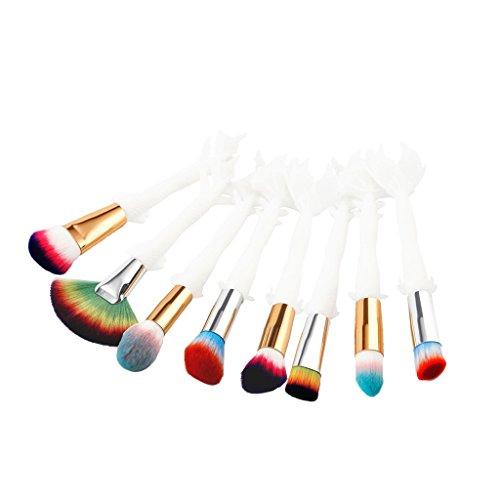 MagiDeal 8pcs Kit Brosses à Maquillage Pinceau Cosmétique Brush make-up Pour Poudre de Fondation Blush Contour Correcteur Anti-cernes