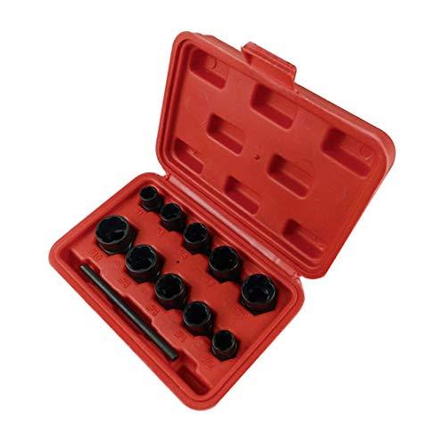 11 stücke Mutter Schraubenentferner Set 9-19mm Locking Rad Bolt Mutter Stud Extractor Twist Socket Set Threading Handwerkzeuge Kit Mit Box -