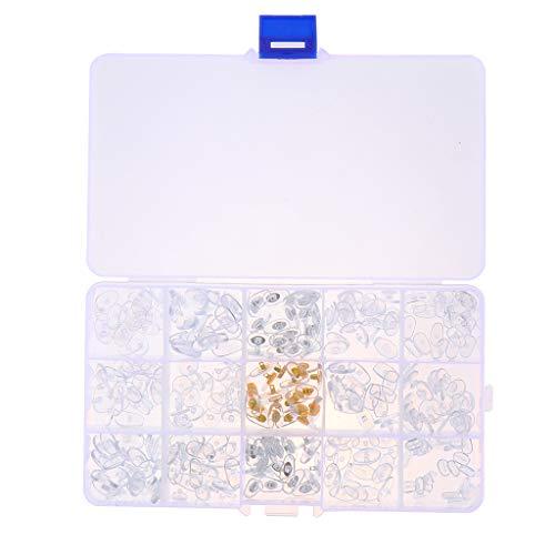Baoblaze Transparent Brillennasenpad Nasenpolster Nasenpads aus Hochwertigem Kunststoff Perfekt für alle Arten von Optischen Rahmen