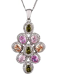 Ananth Jewels 925 Sterling Silver BIS Hallmarked Pendant With Chain For Women