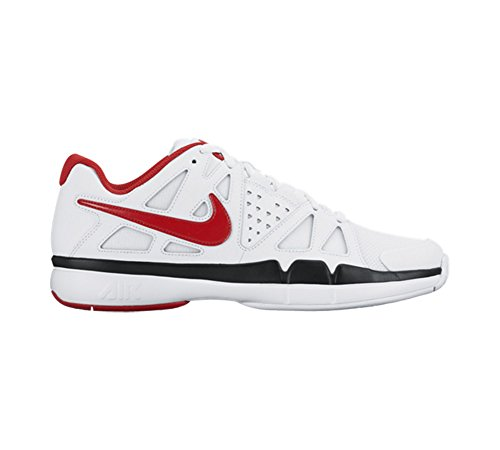 Nike Air Vapor Advantage, Chaussures de Tennis Homme Blanco (white/university red-black)