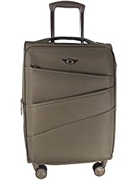 Texas USA - Exclusive Range Of Imported Soft Luggage Trolley -Black Color- 20 Inch - Cabin Size