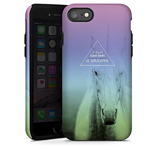 Apple iPhone X Silikon Hülle Case Schutzhülle Einhorn Sprüche Unicorn Tough Case glänzend