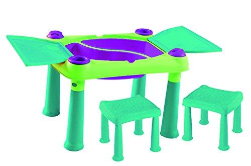 Keter Creative Spieltisch mit 2 Stühlen, türkis