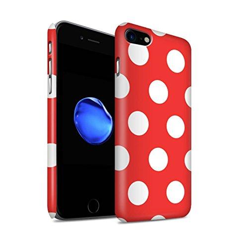 STUFF4 Matte Snap-On Hülle / Case für Apple iPhone 7 Plus / Lila Muster / Tupfen Muster Kollektion Rot