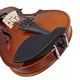 YGQersh Mentonnière en bois d'ébène pour violon 4/4 Instruments de musique Accessoires Pièces - Noir