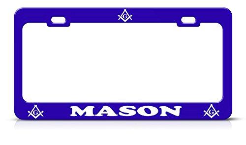 (Mason Nummernschildrahmen Metall blau Stahl Heavy Duty Tag Border Perfekt für Männer Frauen Auto Garadge Decor)