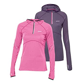 ASICS Women's Long Sleeve Half Zip Hooded Running Top - X Small