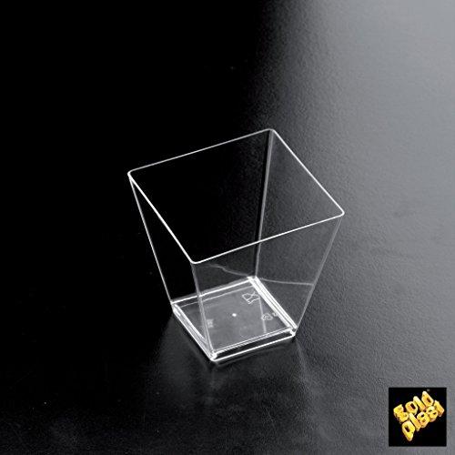 Gold Plast Lot de 25 verrines en forme de losange 55x56 mm transparent