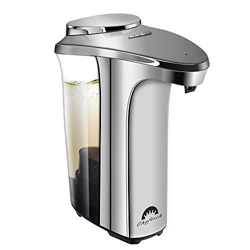 Cheftick Dispensador de jabón automático, Dispensador de jabón líquido para lavamanos Ajustable con Sensor de Movimiento Libre (500 ml), Gran Capacidad, Adecuado para Cocina y baño