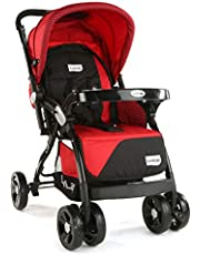 LuvLap Galaxy Baby Stroller - Red&Black ( For Babies upto 25 kgs)