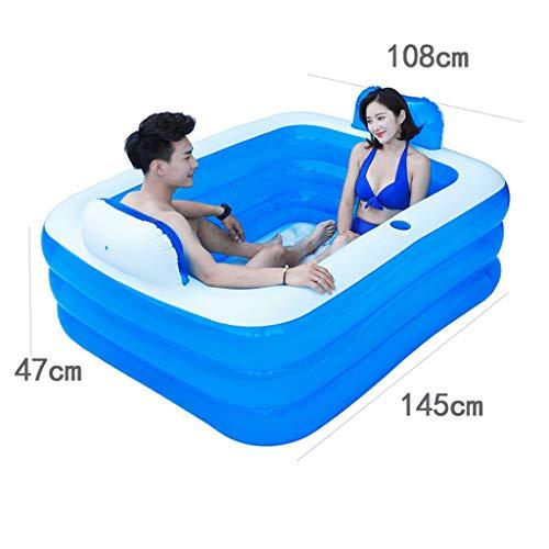 Aufblasbare Badewanne, große Größe Doppel tragbare Badewanne blau Bad dicker Isolierung Erwachsene Home SPA Kinder Anti-Rutsch-Pool, faltbare Reise-Luft-Dusche Becken Sitz Bäder (ausgabe : ELECTRIC)