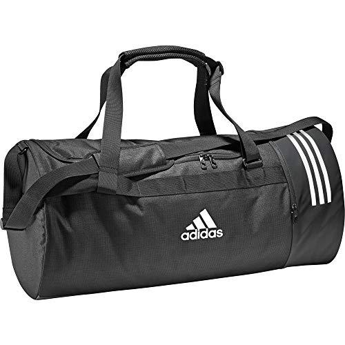 adidas Convertible 3-Streifen Sporttasche, Black/White/White, 68 cm