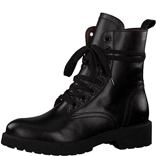 Tamaris Damen Schnürstiefelette 25297-31,Frauen Stiefel,Chukka Boot,Halbstiefel,Schnürboots,Bootie,Reißverschluss,Blockabsatz 4cm,Black,EU 41