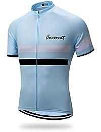 Coco ropamo Mens Transpirable Manga Corta Ciclismo Jersey Bicicleta Camisa bb11c41f3