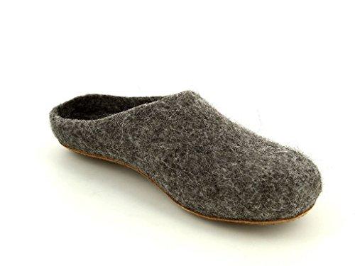 Magicfelt 713-4850 graubra Herren Hausschuhe & Clogs in Mittel Grau