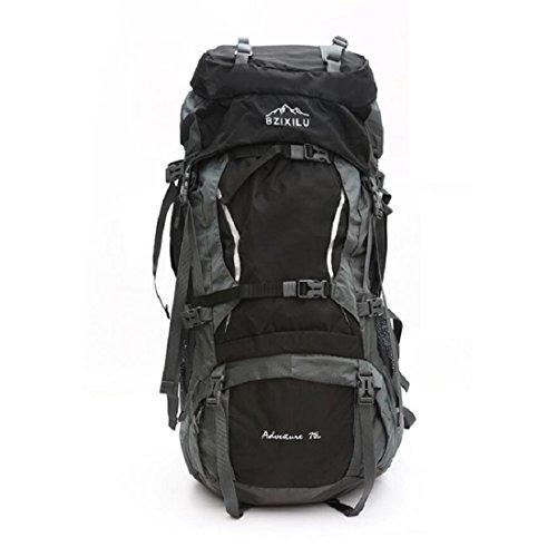 Z&N Backpack Hochwertiges Nylon GroßE KapazitäT 70L Unisex Profi Outdoor Sport Bergsteigen Rucksack Camping Wandertasche Rucksack Klettern GepäCk Tasche E