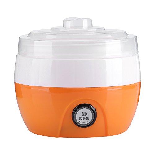 Yogurtera Electrica, 220 V 1L Hecho en casa Automático Fabricante de yogur Yogur Crema Eléctrica Máquina Hacedora de Yogur Herramienta de BRICOLAJE(Naranja)
