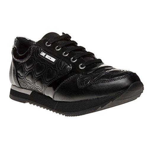 Love Moschino Lace Hi Top Donna Sneaker Nero