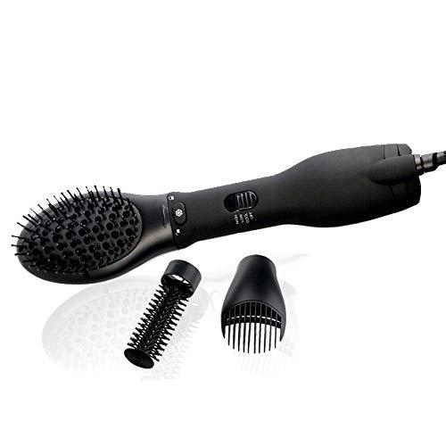 WANG Pettine per capelli 3 in 1 multifunzione aria calda Pettine non dannoso per capelli Asciugacapelli con ioni negativi bagnati e asciutti