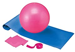 Idea Regalo - Body Coach - Set da Pilates 5 in 1 con Palla, materassino, Fascia, Pompa ed Elastico