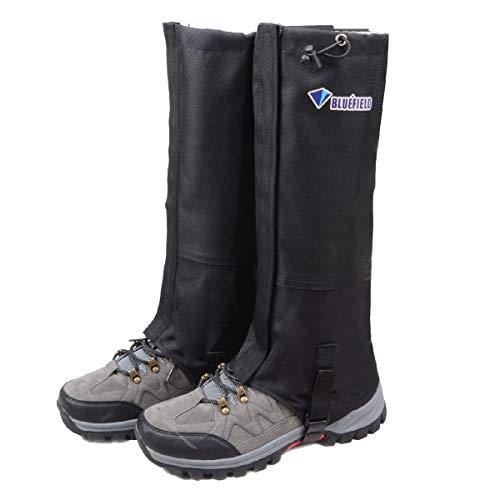 TRIWONDER Schnee Bein Gamaschen Wasserdichte Stiefel Gamaschen Wandern Wandern Klettern Jagd Radfahren Leggings Cover (1 Paar) (Schwarz, S)