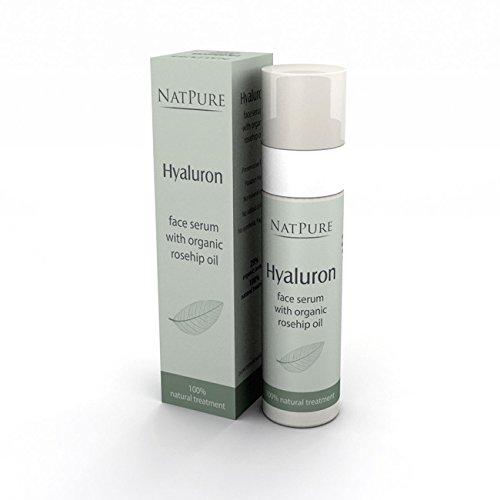 Hyaluron Serum | Feuchtigkeitsspendende Anti-Falten Creme mit Hyaluronsäure | Anti Aging Creme | Lifting-Serum | Hochdosiertes Hyaluron-Gel | NatPure Vegane Naturkosmetik für Frauen und Männer | 30ml