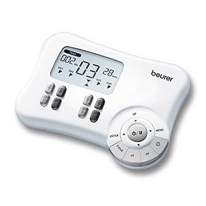 Beurer EM 80 Electroestimulador Digital Masaje EMS TENS 4 Canales 8 Electrodos autoadhesivos