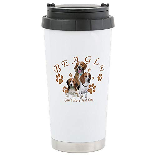 CafePress-Beagle Can 't have Just One Edelstahl Reisen-Thermobecher Edelstahl, isoliert 16Oz Coffee Tumbler -