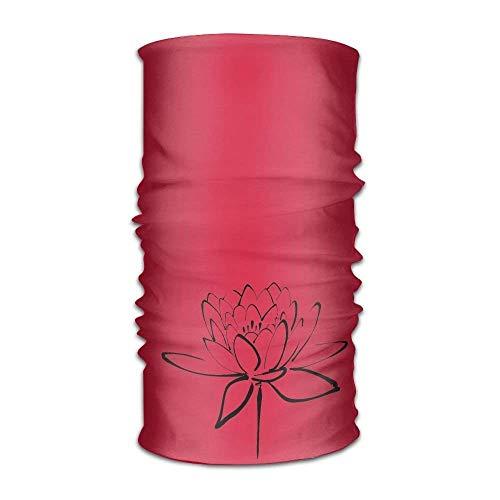 Lotus Flower Calligraphy Headwear For Men And Women-Yoga Sports Travel Workout Wide Headbands,Neck Gaiter,Bandana,Helmet Liner,Balaclava,Hair Turban,Scarf
