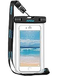 Mpow Wasserdichte Hülle Beutel Tasche, Handyhülle, Staubdichte Schützhülle für iPhone 6/ 6s / 6sPlus /SE / 5s / 5 / 5c, Galaxy S7/ S7 edge/S6 / S6 edge / S5,Huawei P8 usw bis zu 6 Zoll